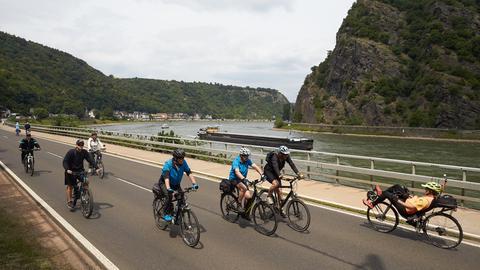 "Radfahrer bei ""Tal Total"" 2018"