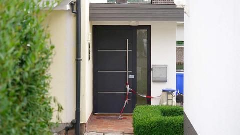 Polizeiabsperrung am Tatort in Bad Arolsen