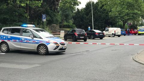 Abgesperrter Tatort in Königstein