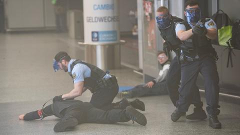 Terror-Übung Flughafen Frankfurt