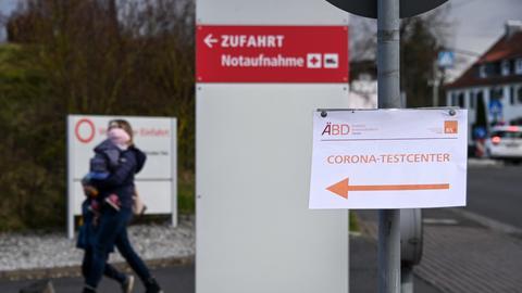 Corona-Testcenter in Fuldatal von außen