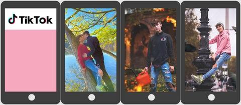 """Handys mit Portraits von Leon, dem """"TikTok-Star"""""""