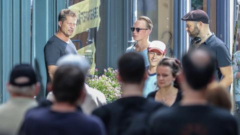 Regisseuer und Schauspieler Til Schweiger bei den Dreharbeiten in Marburg