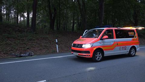 Unfallstelle auf der B3 bei Darmstadt-Eberstadt