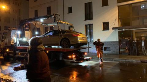 In diesem Auto wurde die 44-Jähriger offenbar erschossen.