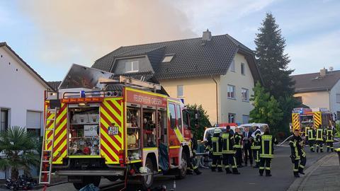 Einsatzkräfte im Kirchweg in Gießen-Lützellinden
