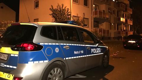 Die Polizei am Tatort in Oberursel.