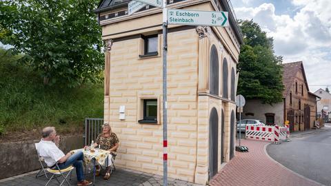 Umgebaute Trafostation in Obersursel-Stierstadt