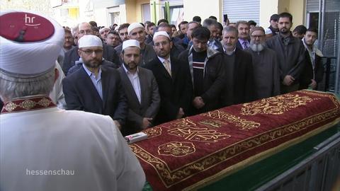 Trauerfeier vor Moschee Hanau
