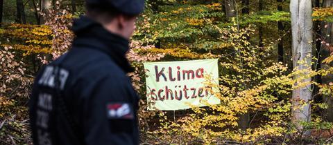 """Banner """"Klima schützen"""""""