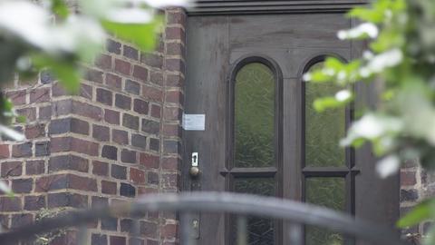 Die versiegelte Tür des Hauses in Darmstadt