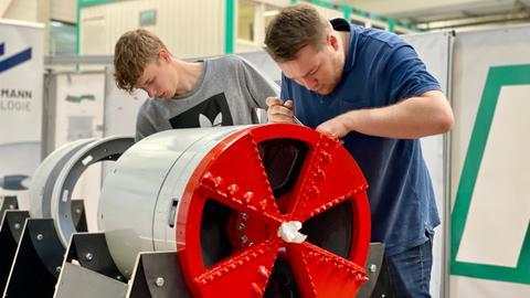 Bohrer von Fuldaer Studenten für Tunnelbau-Wettbewerb