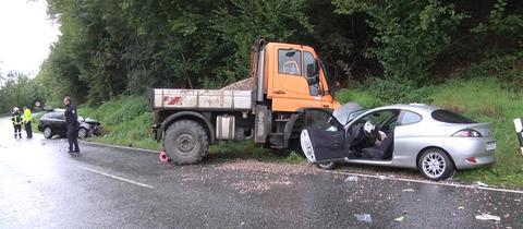 Unfallautos bei Neuenstein