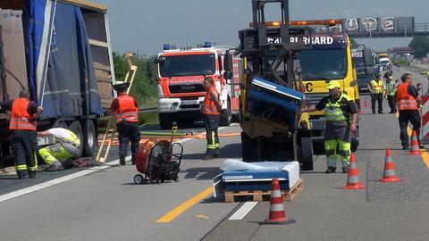Unfall Lkw A5