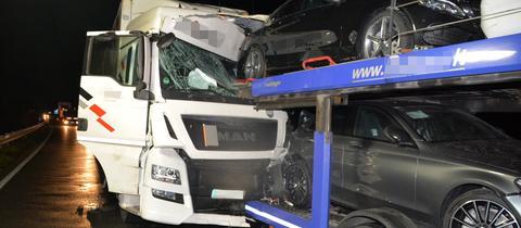 Lkw-Unfall auf der A45