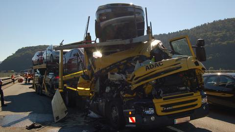 Unfall A45 bei Haiger