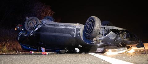 Zwei schwer Verletzte bei Unfall auf A49 bei Fritzlar