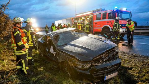 Unfall A66 Ford Mustang