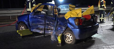 Unfall auf der A67 bei Gernsheim am Sonntag