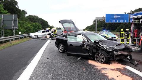 Schwerer Unfall auf der A3