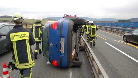 Unfall im Baustellenbereich auf der A45