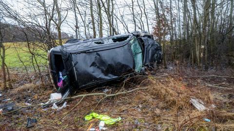 Die Unfallstelle an A66