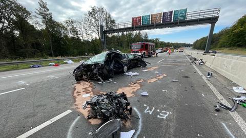 Die Unfallstelle auf der A5