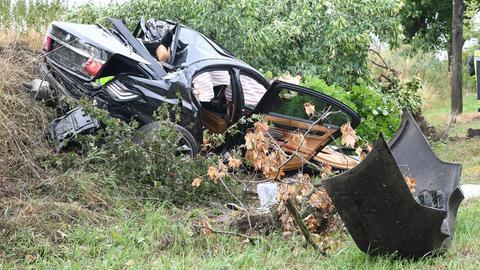 Unfall auf der B44