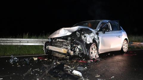 Eines der am Unfall beteiligten Fahrzeuge
