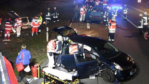 Unfallstelle in Bürstadt