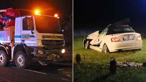 Der Fahrer des BMW überlebte den Zusammenstoß mit dem Lkw nicht.