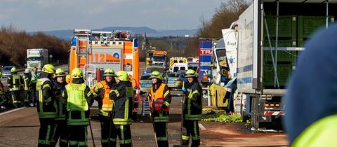 Unfall auf A3 zwischen Bad Camberg und Limburg