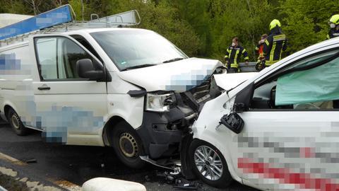 Unfallstelle in Dillenburg