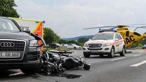 Der Unfallort auf der Landstraße 3307 bei Eichenzell