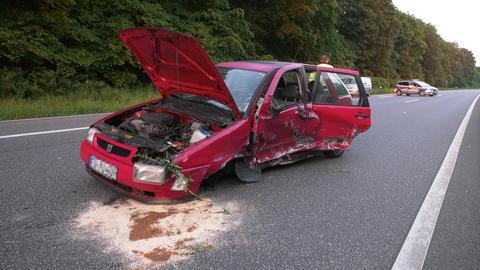 Der Wagen des Falschfahrers wurde völlig zerstört.