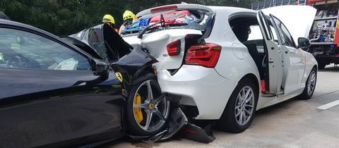 Unfall Ferrari auf der A67