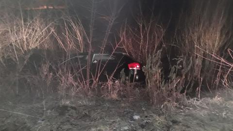 Das Auto nach dem Unfall in Frankenberg.
