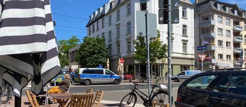 Unfallstelle in Frankfurt