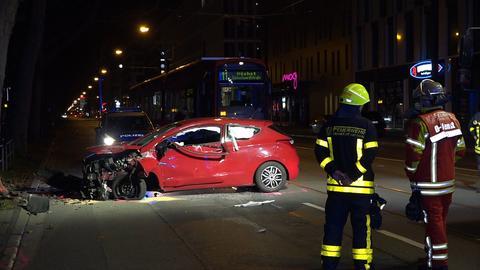 Unfallstelle im Frankfurter Ostend