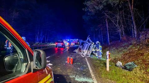 Unfallstelle bei Friedrichsdorf