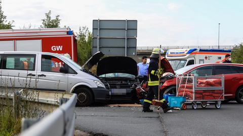 Unfallstelle auf der L3057 in Friedrichsdorf (Hochtaunus)