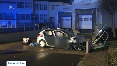 Ein Auto mit vier Insassen verunglückte in der Silvesternacht in Groß-Gerau