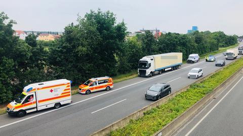 Einsatz an Lkw auf Autobahn