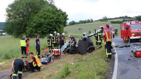 Unfallstelle in Groß-Umstadt