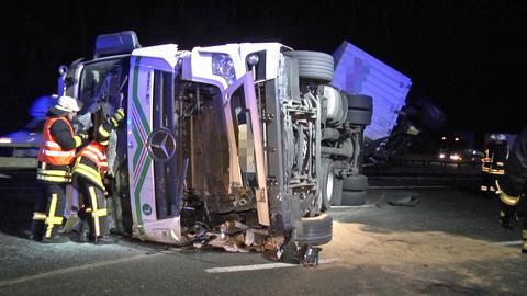Unfallstelle auf der A7 bei Bad Hersfeld