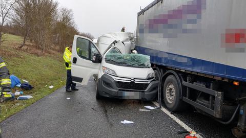Unfallstelle auf der A4