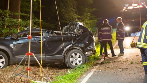 Unfallauto bei Hofheim