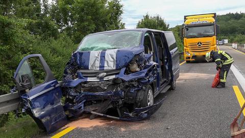 Unfallstelle auf der A5