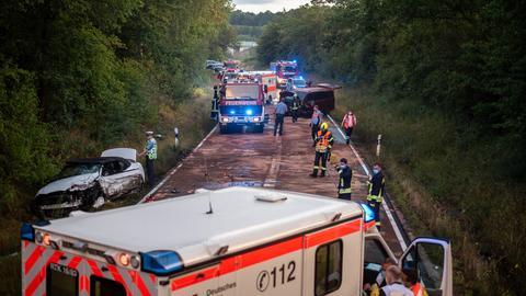 Schwerer Unfall auf B275 bei Idstein