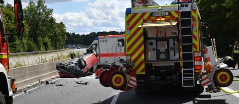 Unfallstelle auf der A661